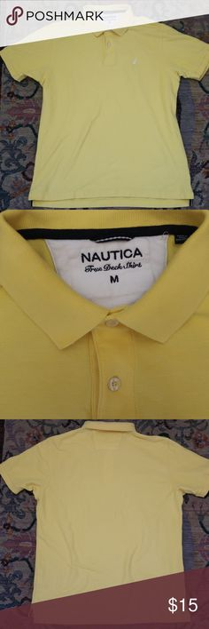 Nautica True Deck Short Sleeve Polo Shirt 100 percent authentic Nautica Shirt. This shirt is in great qaulity, great for spring and summer style!  -Classic fit -Polo collar with a sporty buttoned placket -short sleeves -Cotton -Machine wash -Imported -Nautica Logo on Left side of the chest (White) Nautica Shirts Polos
