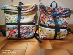 Duo de sacs à dos Troïkas thème voitures cousus par Alexandra - Patron Sacôtin
