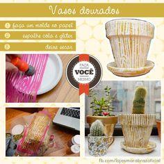Vasos decorados (Imagem Loja Marabraz)