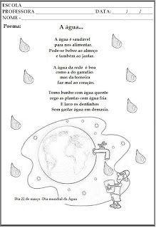 SUGESTÃO DE LEMBRANCINHA PARA O DIA INTERNACIONAL DA ÁGUA.       DIA MUNDIAL DA ÁGUA.    ESSAS RETIREI DA INTERNET E ALGUMAS ACHO QUE DO BL...