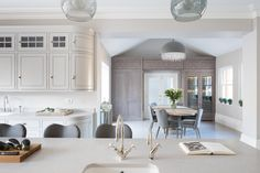 Contemporary Open Plan Kitchen, Theydon Bois - Humphrey Munson Kitchens - Beautiful Handmade Kitchens - Spenlow Cabinetry - Smithfield Weathered Oak