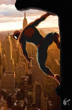 #Spiderman #Fan #Art. (Spider on the wall) By: Knightreaver. (THE * 5 * STÅR * ÅWARD * OF: * AW YEAH, IT'S MAJOR ÅWESOMENESS!!!™)[THANK Ü 4 PINNING!!!<·><]<©>ÅÅÅ+(OB4E)