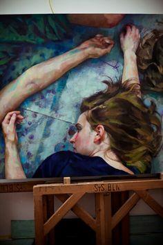 Xenia Hausner, is the daughter of the Austrian painter Rudolf Hausner