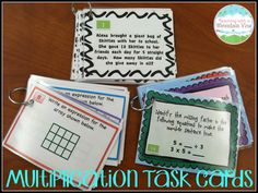 HUGE Multiplication Task Card Bundle!  SO many topics are covered here that they complete my math workshop during our multiplication unit.