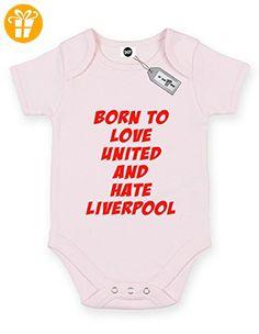 Born to Love United und Hate Liverpool Short Sleeve Baby Body Strampler. KOSTENLOSE LIEFERUNG IM LIEFERUMFANG ENTHALTEN. Rosa Hellpink (*Partner-Link)