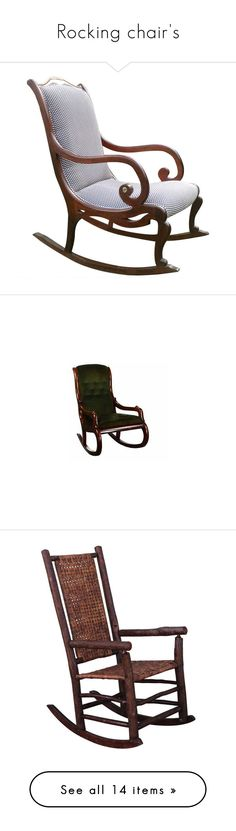 """Rocking chair's"" by suelb ❤ liked on Polyvore featuring chairs, home, rocking chairs, outdoor furniture, seating, furniture, accent chairs, mahogany wood furniture, mahogany rocking chair and mahogany furniture"