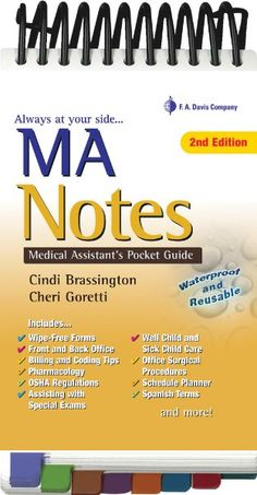 I have a feelin' this will be one of my best friends!!  Medical assistant pocket guide #medicalcareercenter