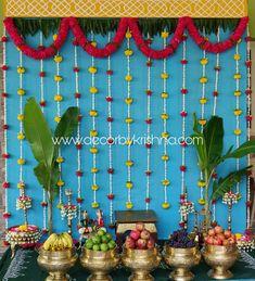 @decorbykrishna is taking orders for eco-friendly home based events decor, like pellikooturu, Pellikoduku ,Mehendi, mangalasnanam, Seemantham, gruhapravesam and cradle . Call: 7305105056 @DecorbyKrishna is looking for franchises all over India to propagate the culture of #ecofriendlydecor for home based events Mail to decorbykrishna@gmail.com for orders and franchise details. #bridesessentials #thegorgeousbride #ezwed #wedmegood #weddingsutra #shaadimagic #kalamkari #thebigfatindianwedding Ganpati Decoration Design, Thali Decoration Ideas, Diy Diwali Decorations, Home Wedding Decorations, Backdrop Decorations, Festival Decorations, Flower Decorations, Mandir Decoration, Indian Baby Showers