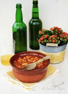 Fabes con calamares. Receta asturiana | La Cucharina Mágica