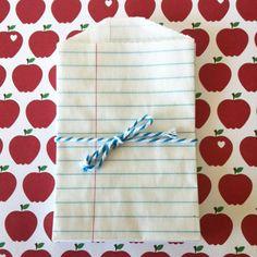 10 Notebook Paper LITTLE BITTY BAGS  Favor by aprettylittleparty, $2.75