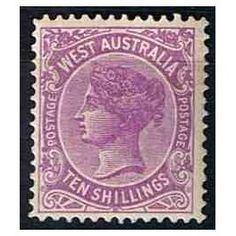 *-Mint stamp, lightly mounted, catalog Michel No. Vintage Stamps, Queen Victoria, Stamp Collecting, Western Australia, Colonial, Coins, British, Clip Art, Ephemera