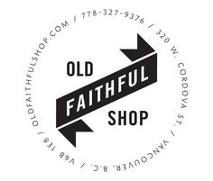 old faithful shop | love this logo and a lot of other stuff on their page