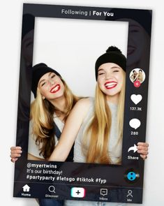 Complete your photo booth with this fantastic social media frame. Great for having a laugh while you you snap away and take a bunch of photos. Birthday Party For Teens, Birthday Party Themes, Girl Birthday, Party Photo Frame, Photo Booth Frame, Party Activities, Fun Activities For Kids, Easy Party Decorations, Diy Party Supplies