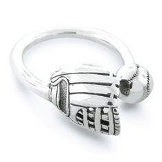 Love this simple baseball ring! It's almost season again!