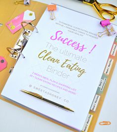 A powerful Clean Eating Binder with more than 85 printable sheets to reboot your health in Just 2 Weeks no Matter How Busy you are! Your Binder includes 2 Week Meal Plan, 2 Week Shopping List, 20+ Clean Eating Recipes and More! Success your Clean Eating Challenge No Matter How Busy You Are. Gluten Free & Dairy Free approved. This is not a printed product send to your home. It is an electronic ebook to download after purchase.