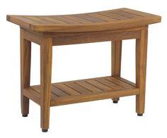 "Aqua Teak - The Original 24"" Maluku™ Teak Shower Bench with Shelf, $179.95 (http://www.aquateak.com/bath-and-shower-seating/24-teak-shower-benches/24-teak-shower-bench-with-optiarea-versatility-from-the-maluku-collection-377/)"