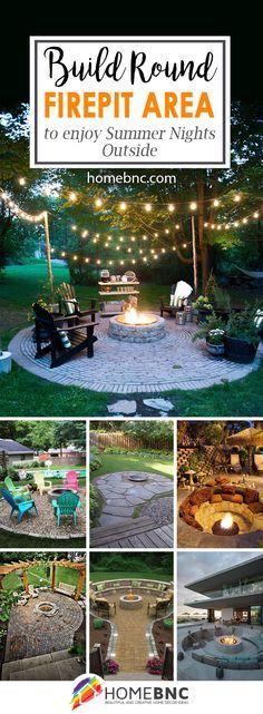 Round Firepit Area Decor Ideas