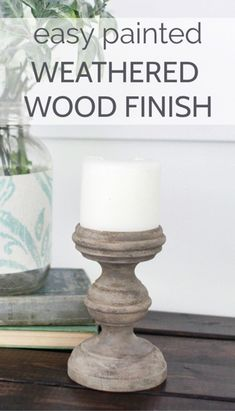 This weathered wood finish is easy to create using inexpensive craft paints. Learn to create a light wood finish on furniture or home decor. Chalk Paint Furniture, Furniture Projects, Furniture Makeover, Diy Furniture, Furniture Refinishing, Wood Projects, Furniture Design, Driftwood Furniture, Homemade Furniture