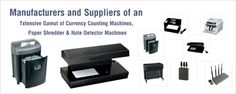 We are the one of the foremost company in the market to provide you the best quality and reliable product range of Currency counting machine