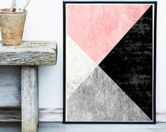 Geometric Print Instant Download Printable Art by exileprints
