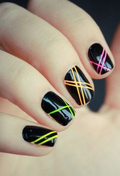 Neon polish without going overboard! Beautiful.  SOOO DOING THIS TODAY!!!