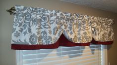 Valance Window Curtain Swagged Swag Custom by CountryRuffles