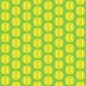 Small Half-Drop Light Green Tennis Balls by audreyclayton, Spoonflower digitally printed fabric