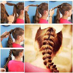 DIY Inverted Hearts Ponytail Hairstyle  Like us on Facebook == https://www.facebook.com/icreativeideas