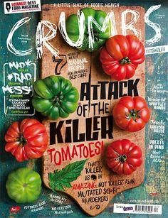 I like the layout of this cover. It's chaotic, but in a good way Crumbs (UK) magazine. Designer Trevor Gilham (via Cover Junkie). Web Design, Food Design, Layout Design, Print Design, Design Editorial, Editorial Layout, Layout Inspiration, Graphic Design Inspiration, Daily Inspiration