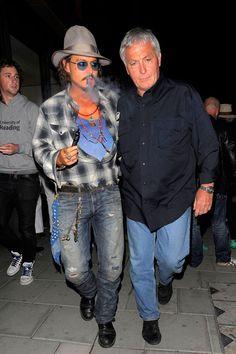 Johnny Depp vapes.