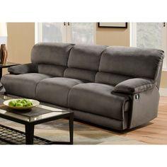 Angling Charcoal Triple Reclining Sofa