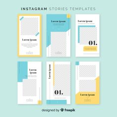 Colorful instagram stories template Free Vector Layout Do Instagram, Instagram Design, Instagram Story Template, Instagram Story Ideas, Layout Inspiration, Graphic Design Inspiration, Business Notes, Graphic Design Brochure, Plakat Design