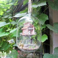 Pakitoy New Arrival DIY Glass Marble Mini Wooden Dollhouse Handmade Forest Fariy Doll House - Summer Morning $32.50