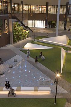 AEON MALL Miyazaki - hinata TERRACE STGK Inc. | studio gen kumagai Landscape Plaza, Landscape And Urbanism, Landscape Architecture Design, Landscape Lighting, Landscape Designs, Urban Landscape, Landscape Rocks, Landscape Mode, Landscape Paintings