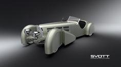 Bugatti 57s covered steering wheels