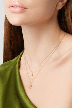 Andrea Fohrman | Crescent Moon 18-karat gold opal necklace | NET-A-PORTER.COM