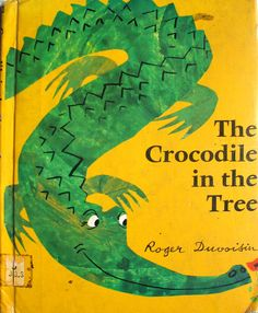 Roger Duvoisin (1900 – 1980) - Swiss-born American writer and illustrator. illustration, drawing, art, design, modern, mid-century, retro, vintage, children, picture, book, crocodile