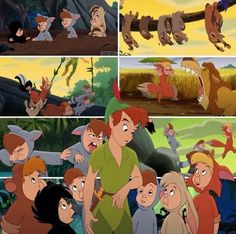 Peter Pan and the Lost Boys in Peter Pan Return to Neverland Disney Love, Disney Magic, Disney Art, Disney And Dreamworks, Disney Pixar, Walt Disney, Peter Pan And Tinkerbell, Peter Pan Disney, Peter Pan 3