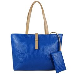 Classic Fashion Faux Leather Large Tote Bags with Coin Wallet (Blue) Beauty Life http://www.amazon.com/dp/B00KJ5TXEU/ref=cm_sw_r_pi_dp_uE2Vtb09A7FDD66P