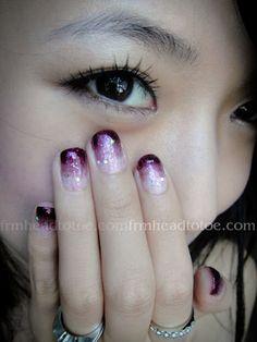 Purple Gradient Nail Art Tutorial