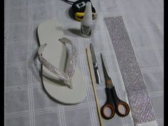 Chinelo com manta de strass - DIY - Passo a passo - YouTube