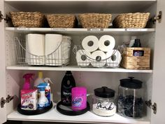 Let's Laundry – ( Part 2 ) – Kmart Styling – Laundry Room İdeas 2020 Laundry Cupboard, Laundry Hamper, Laundry Decor, Laundry In Bathroom, Kmart Bathroom, Bathroom Ideas, Outside Toilet, Kitchen Jars, Kitchen Decor