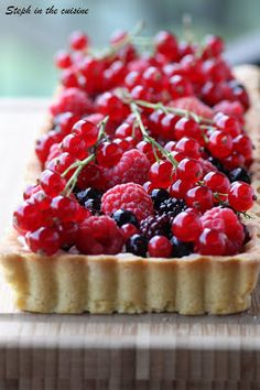 Steph in the cuisine: Tarte aux fruits rouges & mascarpone