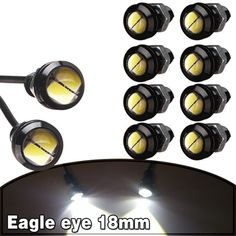 Signal Lamp Automobiles & Motorcycles Realistic Flytop Led 1 X 9w 18mm Eagle Eye Car Lamp Ip68 Waterproof High Power Auto Daytime Running Light Parking Lights Drl Bulb 7colors
