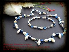 """RedDragn Essentials Original Design by Kari  Matching Necklace and Anklet combo  19 1/2"""" & 9 1/4"""" sets Natural Shell & Mother of pearl (dyed) Barrel Clasp"""