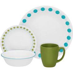 Corelle Livingware 16-Piece Dinnerware Set, South Beach - Walmart.com