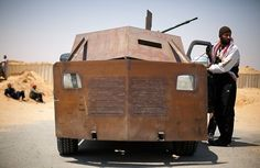 Homemade armored car