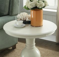 online shopping for Wooden Round End Table Antique White from top store. See new offer for Wooden Round End Table Antique White Pedestal Side Table, Wood Pedestal, Furniture Deals, Living Room Furniture, White Furniture, Sofa End Tables, Antiques, Home Decor, Room Chairs