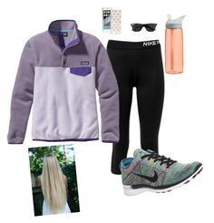 """""""Untitled #28"""" by prepallday ❤ liked on Polyvore featuring NIKE, Patagonia, CamelBak and Kate Spade"""