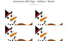 Snowman-Gift-Tags.jpg 494×293 pixels